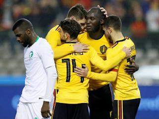 Romelu Lukaku Menjaringkan Dua Gol Kalahkan Arab Saudi 4-0