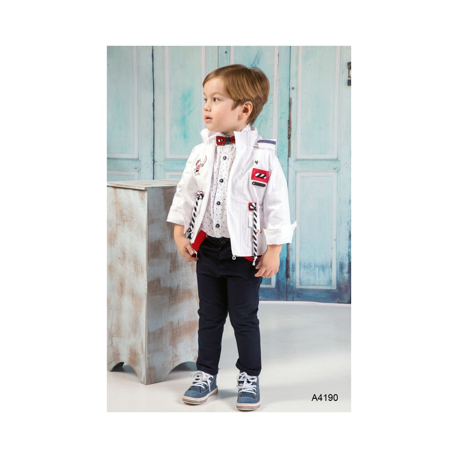 Navy baptism suits for boys A4190