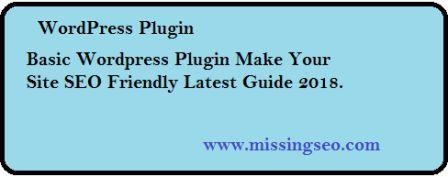 WordPress plugin-www.missingseo.com