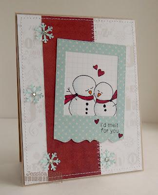 Sweet Snowman Card by Jessica Esch for Newton's Nook Designs