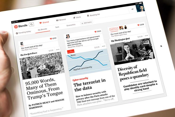 為數位出版找出路!《紐約時報》投資荷蘭新創Blendle,強化新聞單篇收費系統