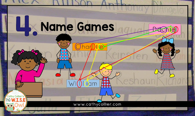 Using names is the perfect way to start the year off right. Here are 5 ideas for using the names to promote both literacy and content area skills.