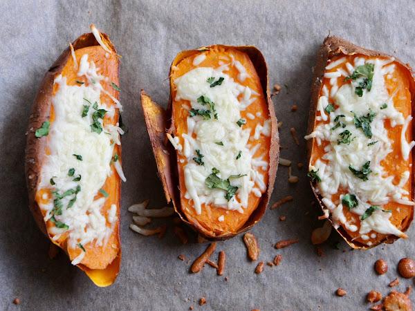 REZEPT: überbackene Süßkartoffel