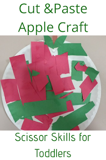 Cut & Paste Apple Craft: Scissor Skills for Toddlers