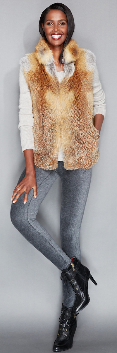 The Fur Vault Red Fox Fur Vest
