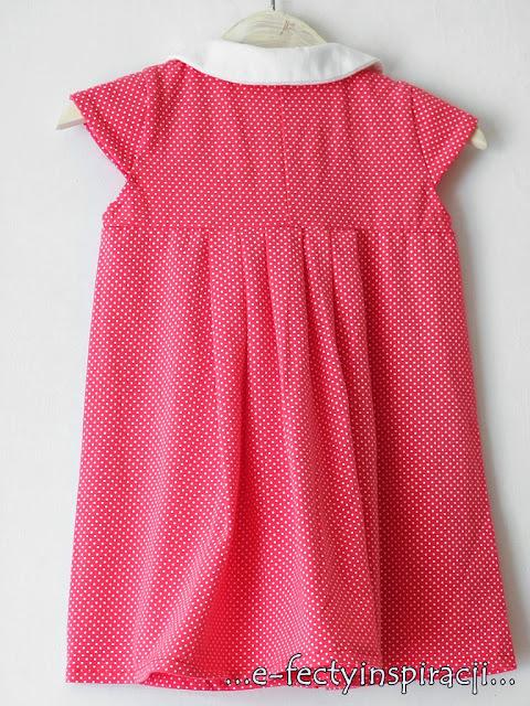 e-fectyinspiracji, sukienka dla dziewczynki, rękawki motylki, jak uszyć, moda dziecięca, pomysł na prezent, kołnierzyk bebe