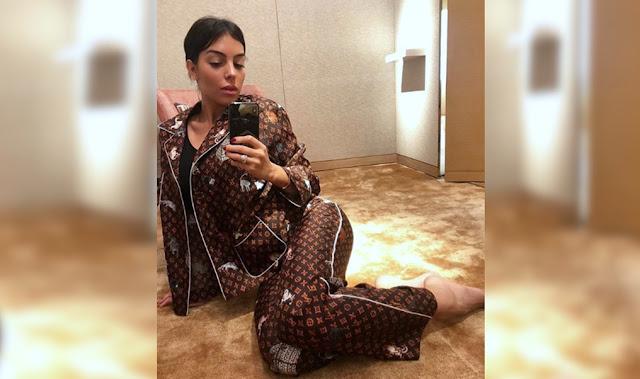 Pijama de Georgina Rodríguez, novia de Cristiano Ronaldo