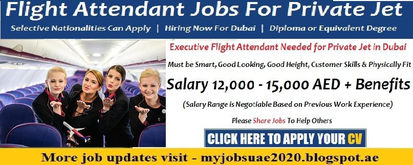 Cabin crew for private jet airline jobs in dubai 2017 for Cabin crew recruitment 2017