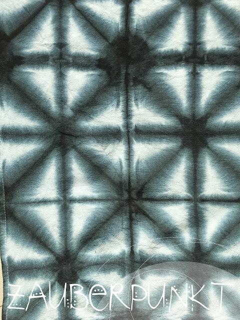 Shibori , Shibori Black, Färben, Abtrocknungstuch, Muster, Batik