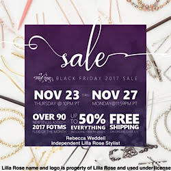 Lilla Rose Black Friday Sale - elegant, unique hair accessories