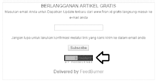 Cara pasang feedcount langganan feedburner di blog