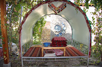 Uzbekistan, Rishtan, Rustam Usmanov Ceramics Museum, aiwan, topchan, © L. Gigout, 2012