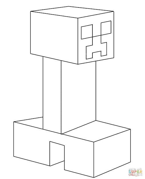 Click The Creeper From Minecraft Coloring Pages To View Printable Version  Or Color It Online Patible With Ipad And Android Tablets