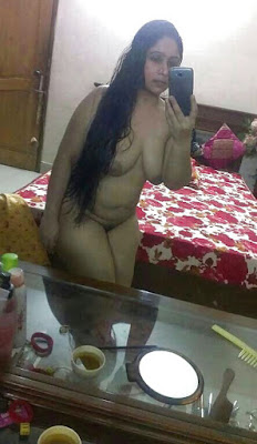 BBW Indian Aunty Naked Selfie Hidden Photo