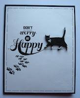 скрап,CAS,просто,кот,чипборд,акрил,надпись,распечатка,монохром,открытка