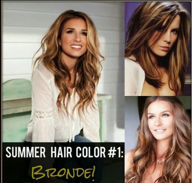 Bronde Blonde brunette highlights for summer
