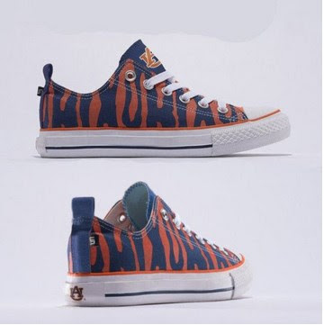 Auburn Tigers Official NCAA Skicks Unisex Low Top Sneakers