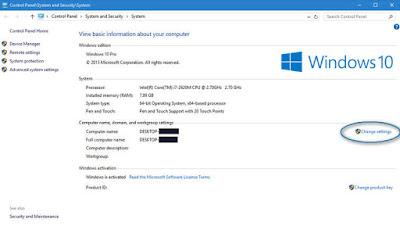 Kerika sobat baru selesai menginstall ulang komputer Cara Mengganti Nama Komputer, Laptop, Notebook pada Windows 10