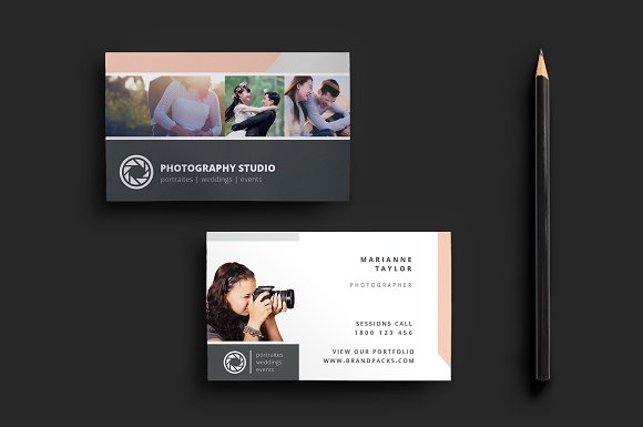 Creative photography business cards design the photo mag wedding photography templates business cards accmission Choice Image