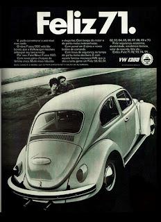 propaganda Volks 1300 - 1970; os anos 70; brazilian cars in the 70s; Oswaldo Hernandez; década de 70;