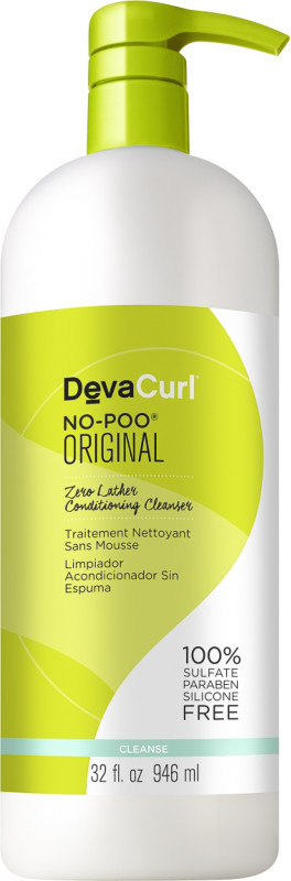 Click here to buy DEVACURL No-Poo Original Zero Lather Conditioning Cleanser, a great cleanser for natural hair