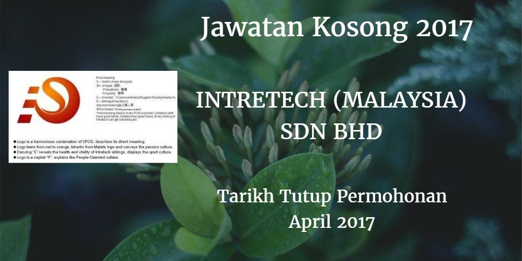 Jawatan Kosong INTRETECH (MALAYSIA) SDN BHD April 2017