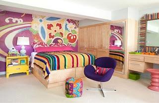 dormitorio juvenil colorido