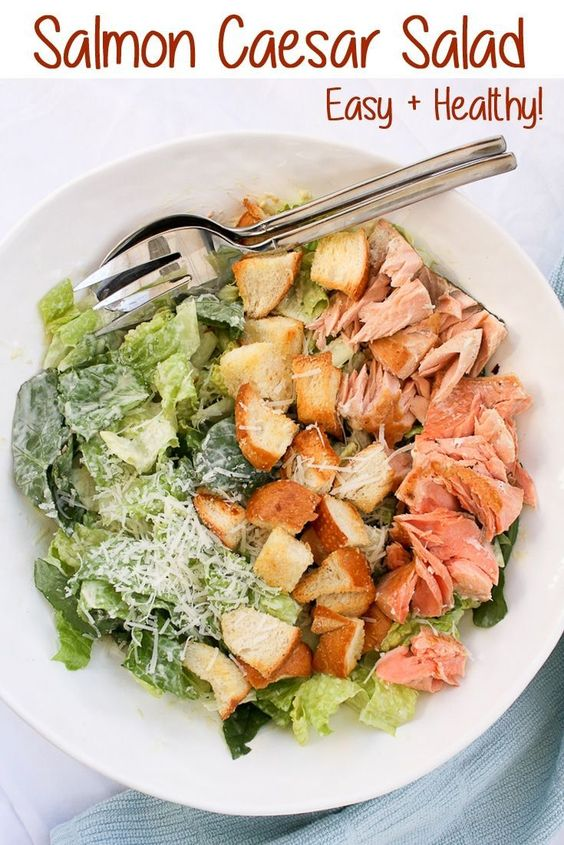 Salmon Caesar Salad - Recipes