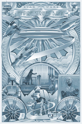 "San Diego Comic-Con 2018 Exclusive Star Wars The Empire Strikes Back ""Darkness Shines"" Variant Screen Print by Steve Thomas x Acme Archives"