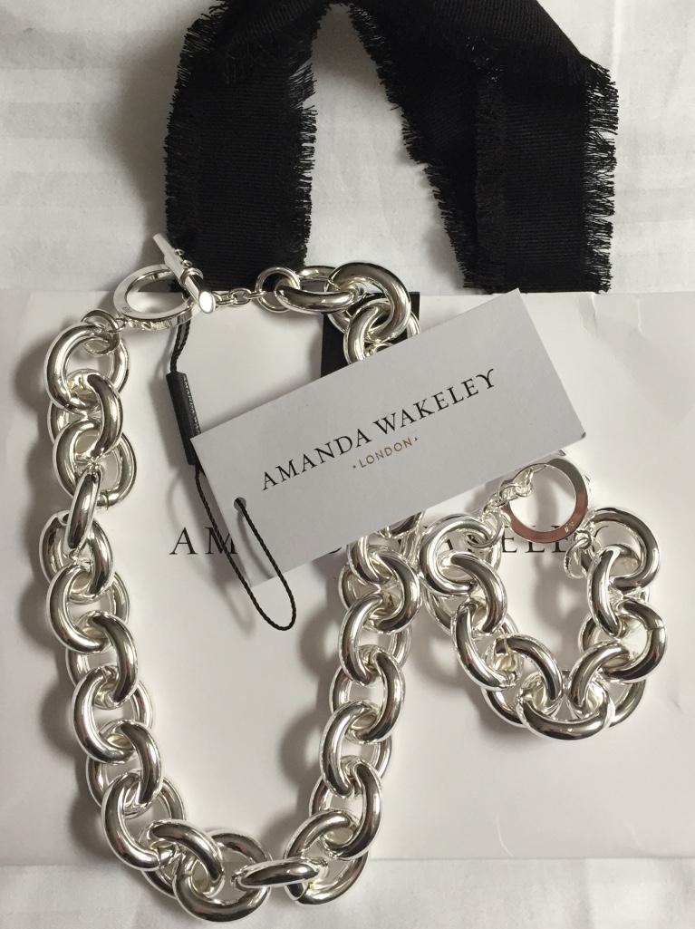 Amanda Wakeley Chunky Silver Bracelet G2tUI