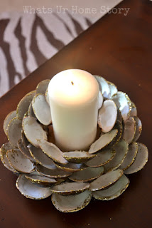 DIY SHELL CANDLE HOLDER