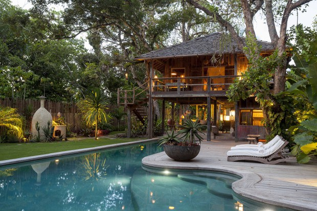 Luxurious beach house home of Anderson Cooper in Trancoso, Brazil on Hello Lovely Studio