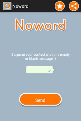 send blank message on whatsapp using no word app