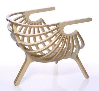 desain kursi unik dari kayu