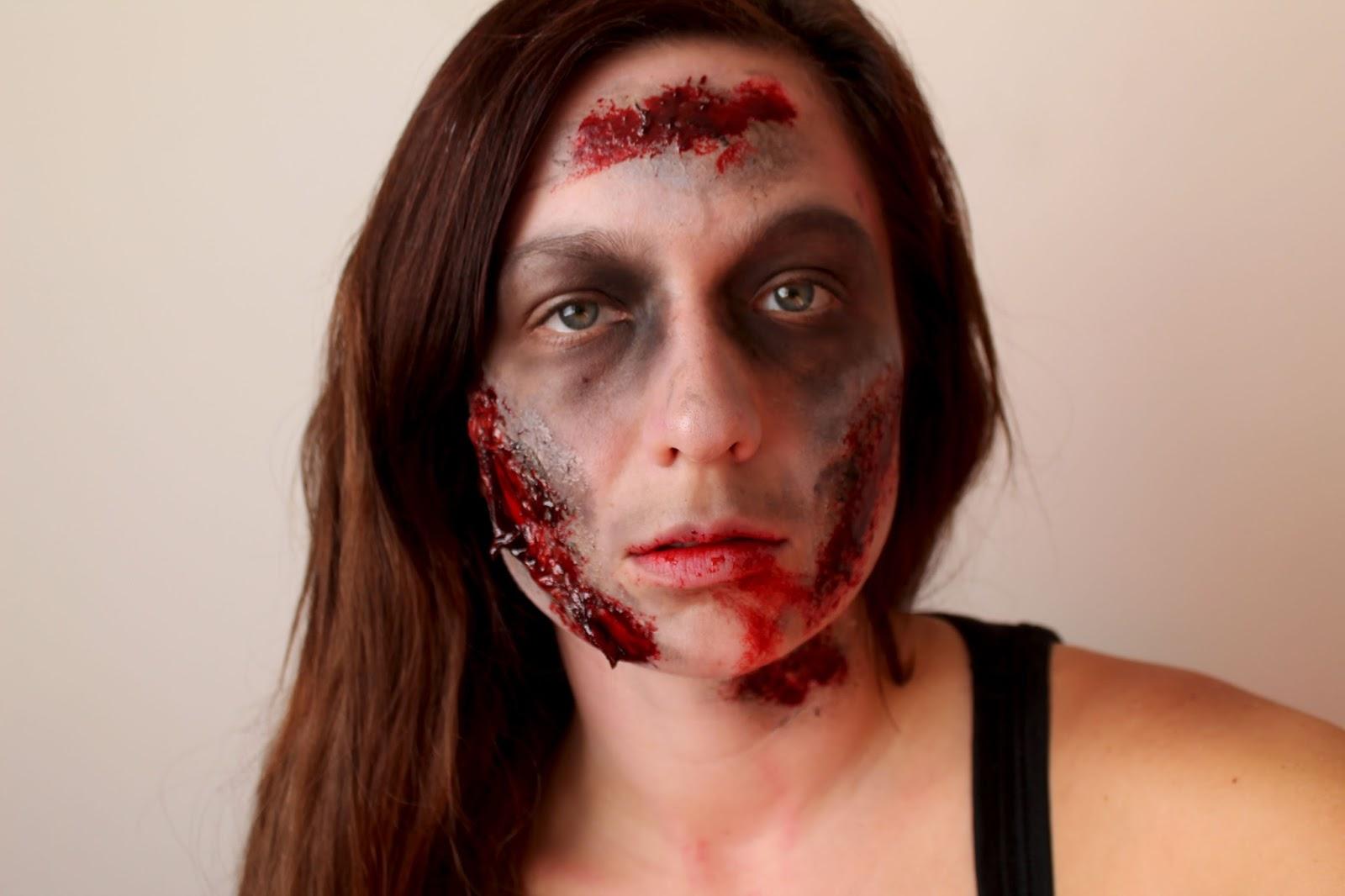 halloween series kickoff! walking dead is back! zombie makeup