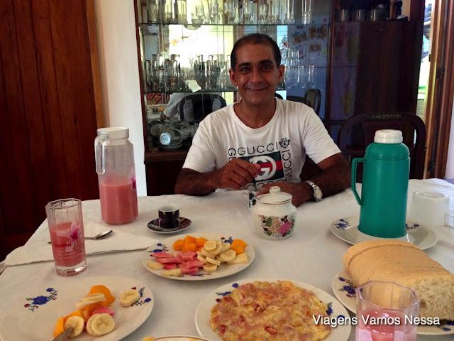Café da manhã no Hostal Corazon del Vedado
