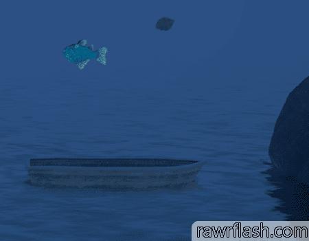Jogo fish out of water é uma versão de getting over it com um peixe