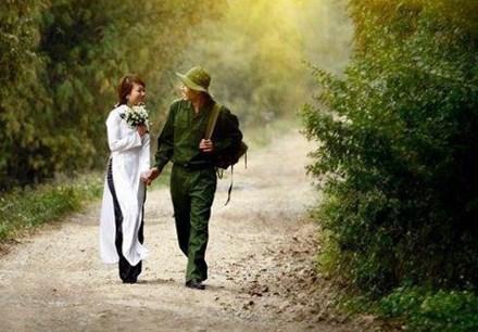 Thơ tình yêu người lính