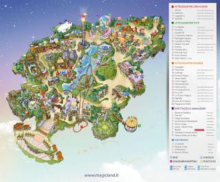 Mappa Rainbow Magicland 2016