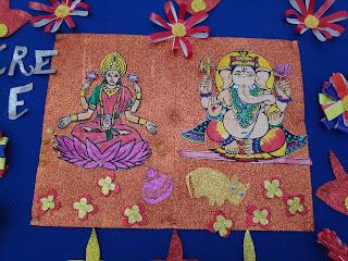 Ganesh laxmi decoration and design