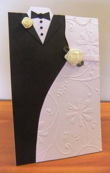 bride and groom shape greeting cards