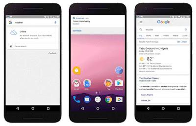 Google search offline mode