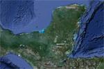 La península de Yucatán, desde satélite