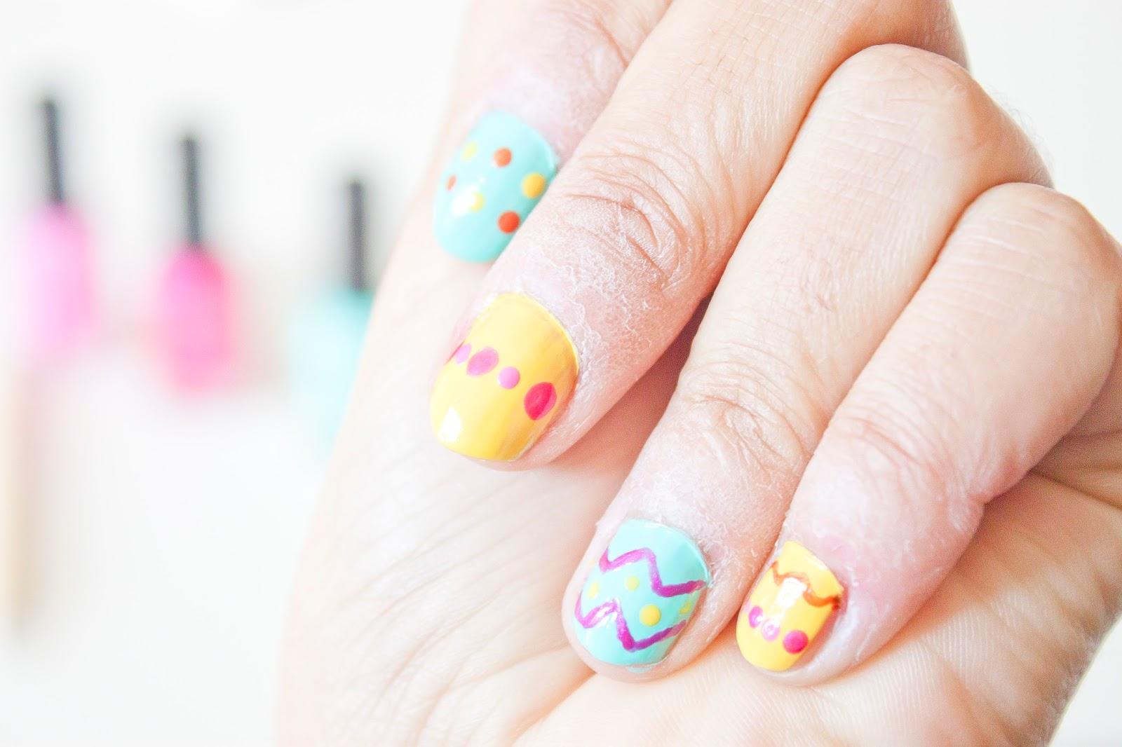 Manucure Pâques Nail art couleurs
