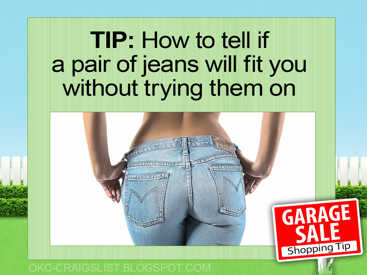 GARAGE SALE TIP: Math trick tells you if jeans will fit
