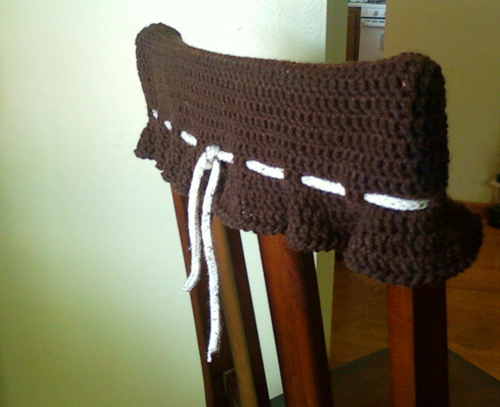 Crochet With Cris: Kitchen Chair Topper/Wall Protector ...