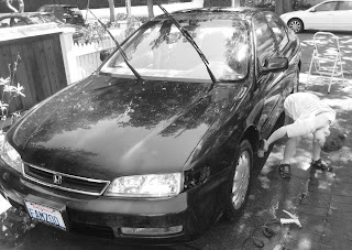 Washing Dad's Car