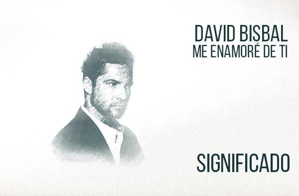 Me Enamoré de Ti significado de la canción David Bisbal.