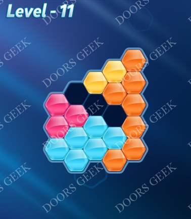 Block! Hexa Puzzle [Rainbow A] Level 11 Solution, Cheats, Walkthrough for android, iphone, ipad, ipod