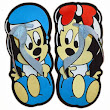 "Sandal Lucu ""Mickey & Minnie"" - Myorishop"